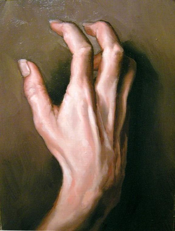"""""""45 - Hand Study"""" original fine art by Edward Watson"""