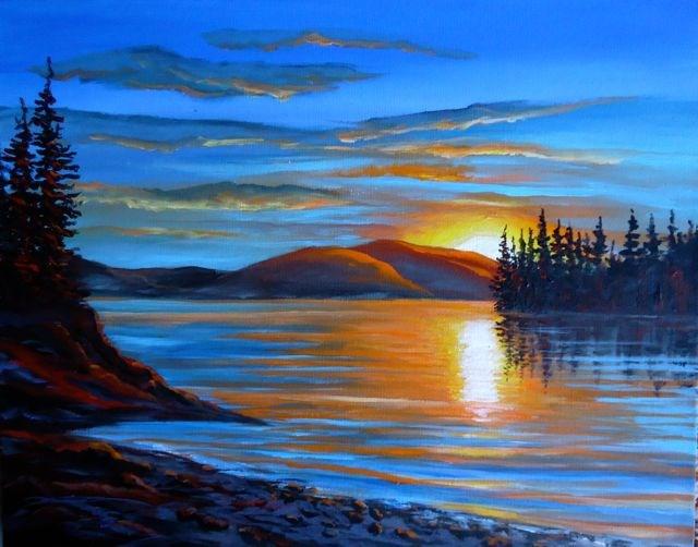 """Serenity"" original fine art by Jackie Irvine"