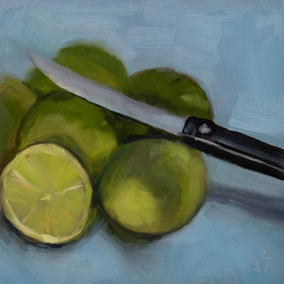 """""""Lime Attack!"""" original fine art by Johnna Schelling"""