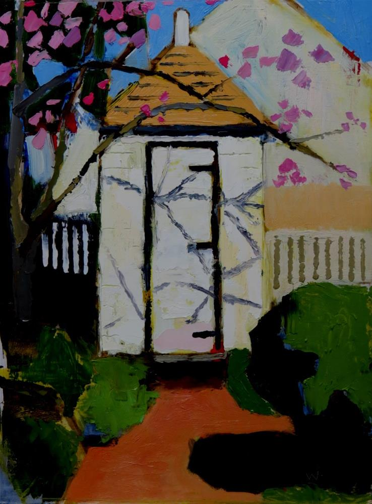 """Mary Washington's Privy"" original fine art by Joan Wiberg"