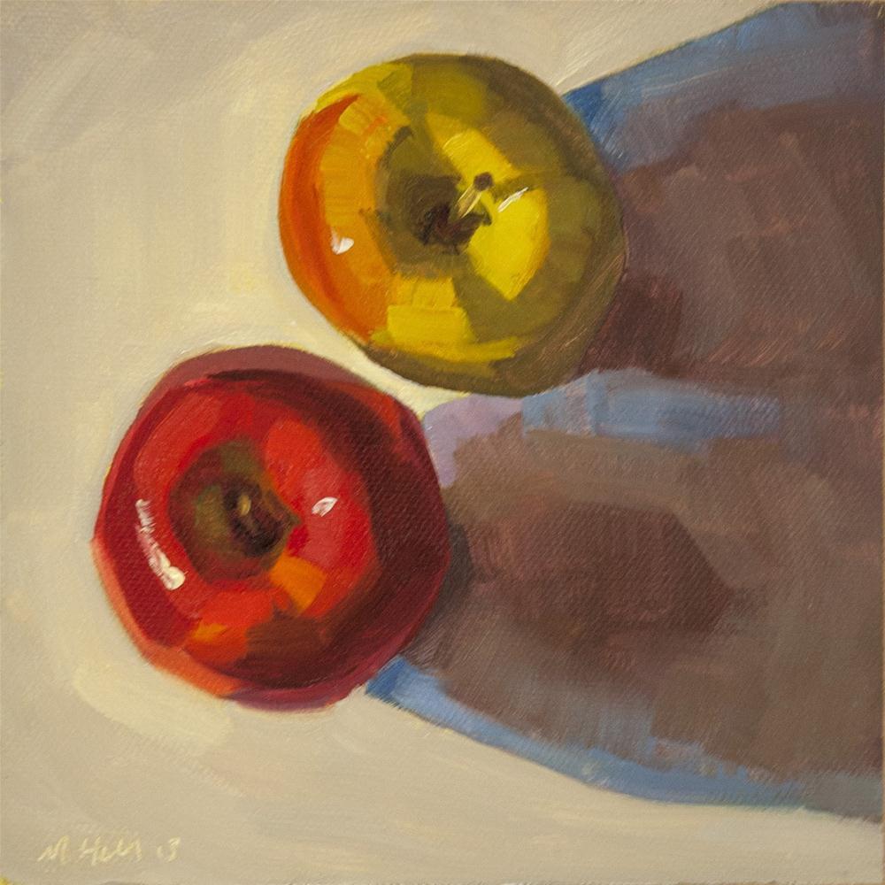 """Apples, January 19, 2013"" original fine art by Miriam Hill"