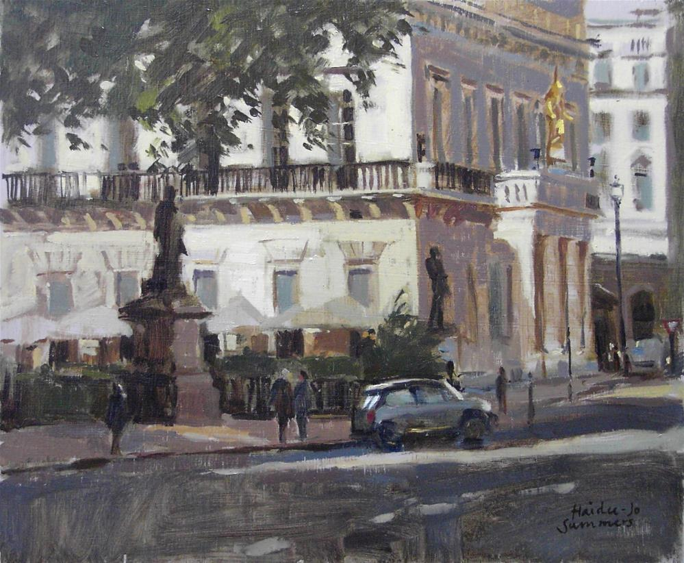 """""""From the back of the Mall Galleries, London"""" original fine art by Haidee-Jo Summers ROI"""