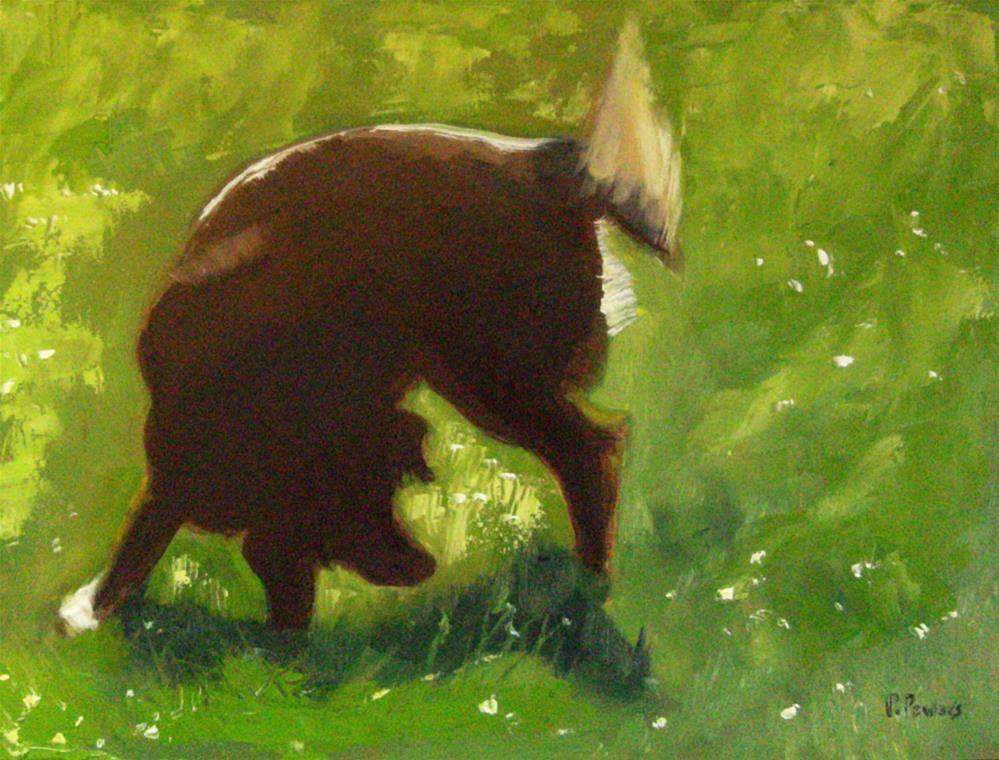 """His Yard"" original fine art by Patricia J. Powers"