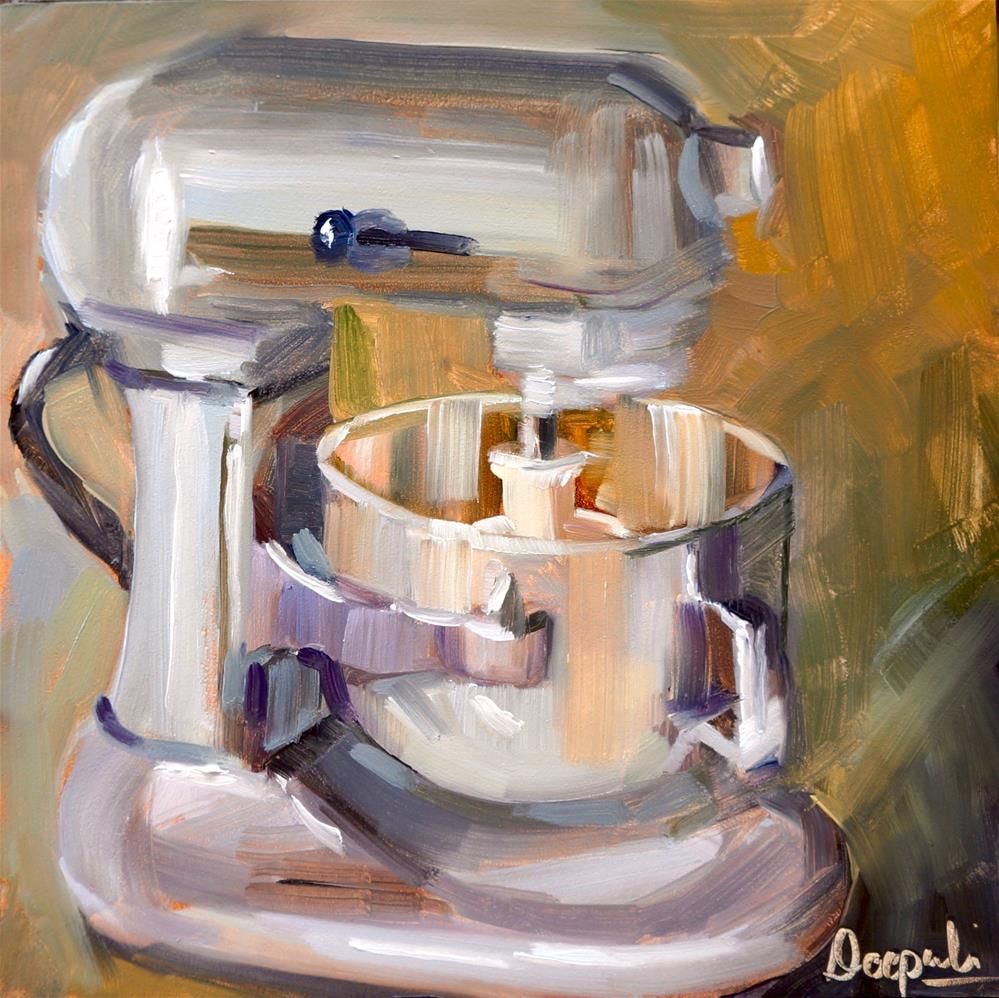 """stand mixer by kitchen aid"" original fine art by Dipali Rabadiya"