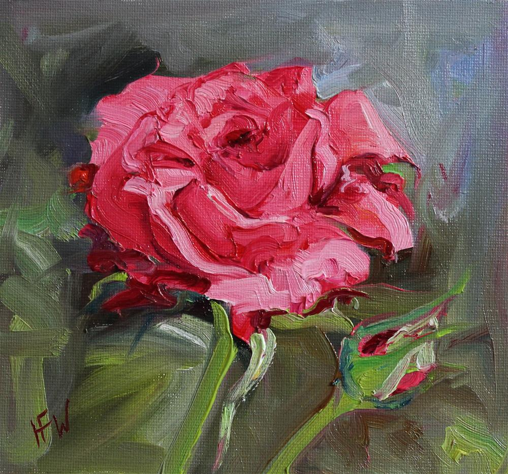 """Rose-challenge"" original fine art by H.F. Wallen"