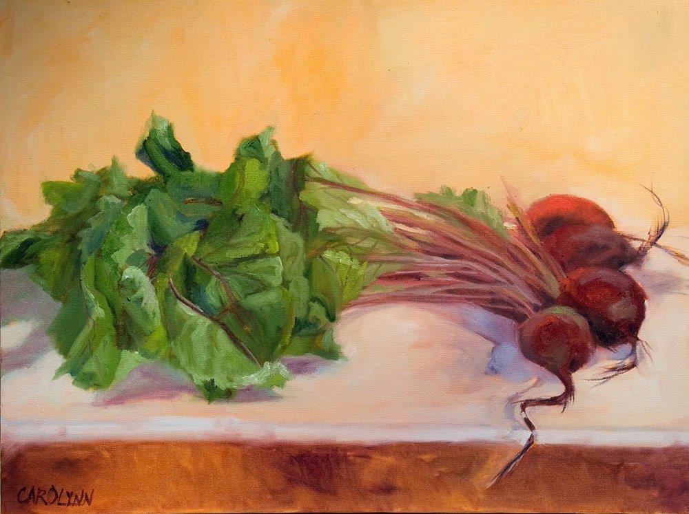 """""""Yum Beets!"""" original fine art by Carolynn Doan"""