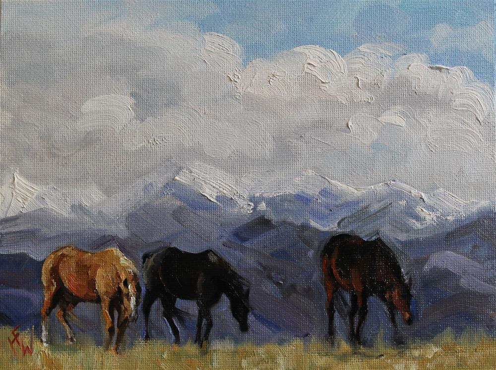 """""""Winter Pasture in the High Country"""" original fine art by H.F. Wallen"""