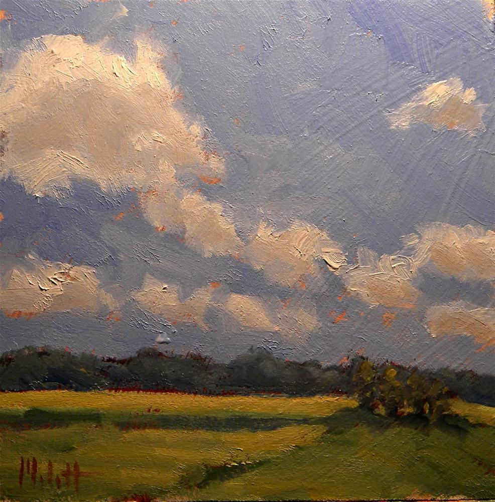 """Summer Clouds Contemporary Impressionism Oil Painting"" original fine art by Heidi Malott"