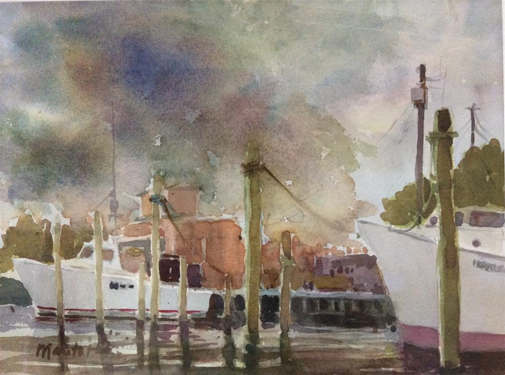 """Storm at Muddy Creek"" original fine art by Marita Hines"