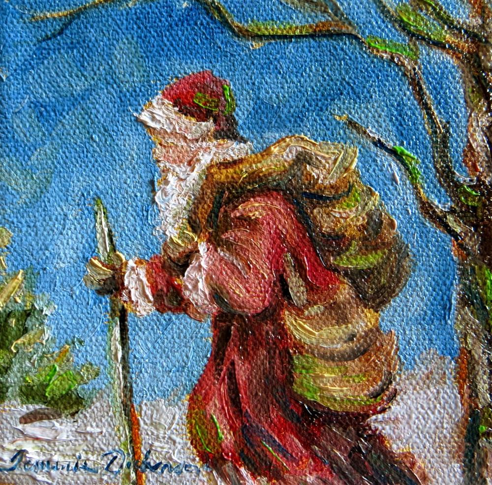 """""""Father Christmas - miniature"""" original fine art by Tammie Dickerson"""