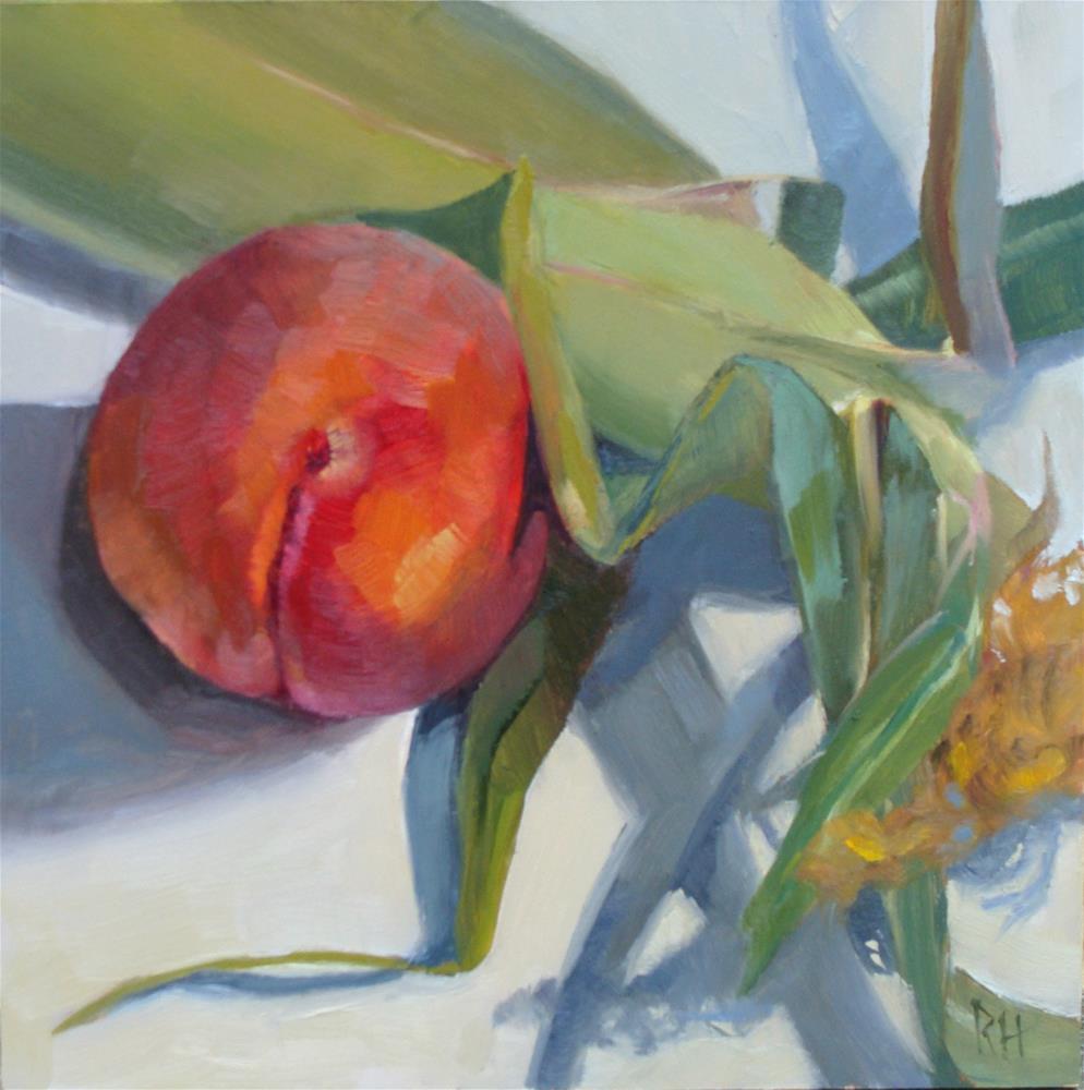"""""""Summer Kitchen"""" original fine art by Rebecca Helton"""