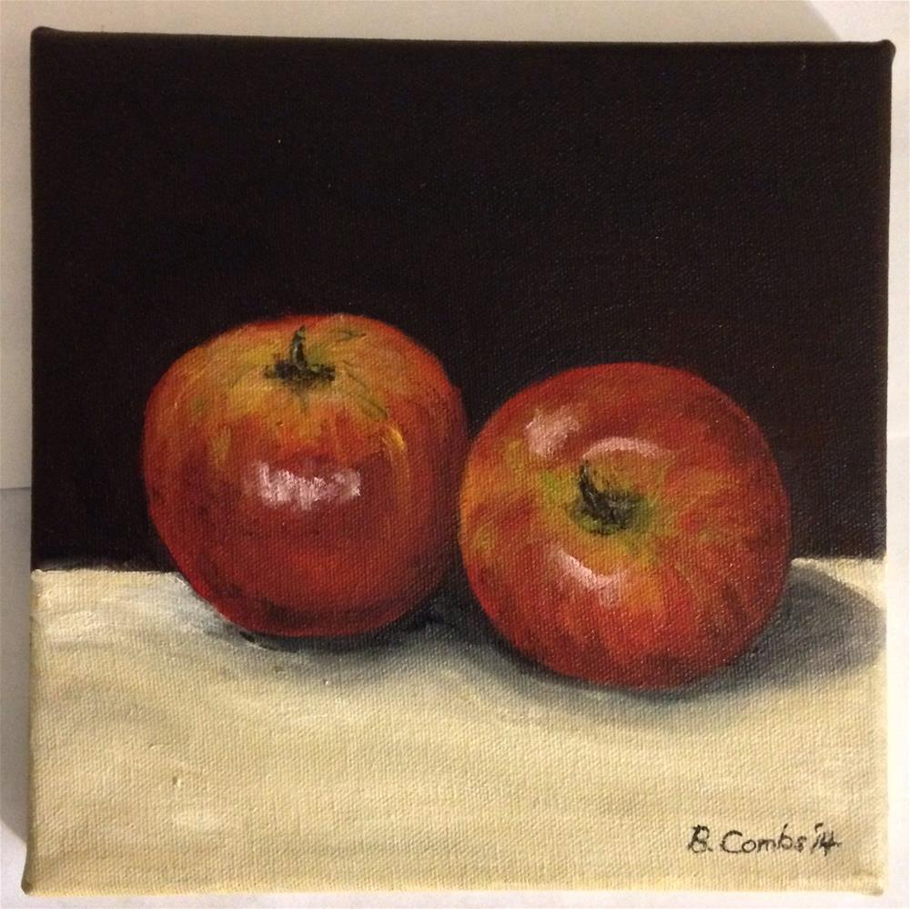 """""""Two Apples"""" original fine art by Bebe Combs"""
