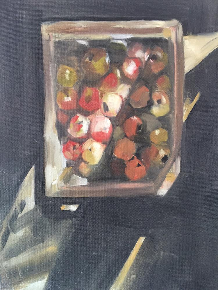 """""""339 Crate of Apples"""" original fine art by Jenny Doh"""