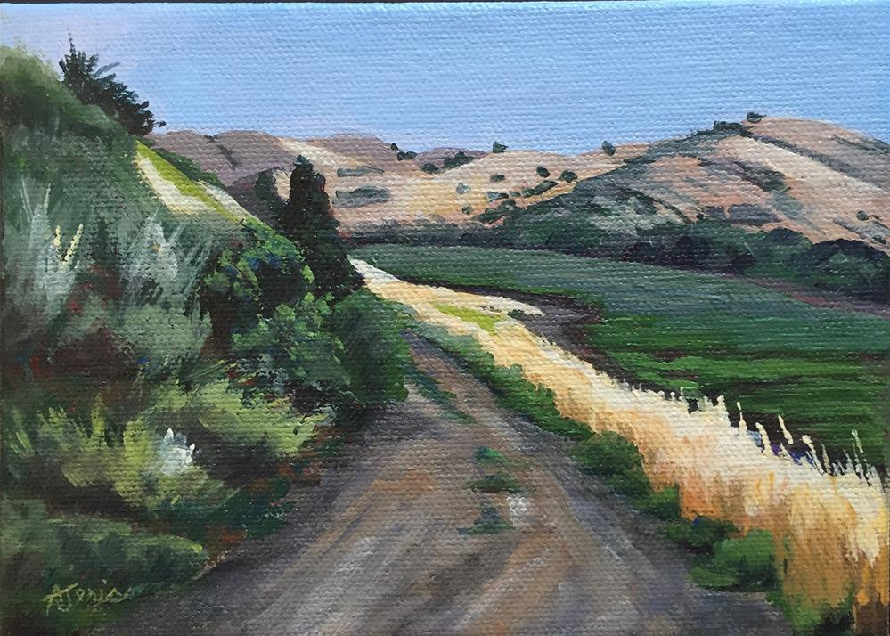 """Through the Hills"" original fine art by Andrea Jeris"