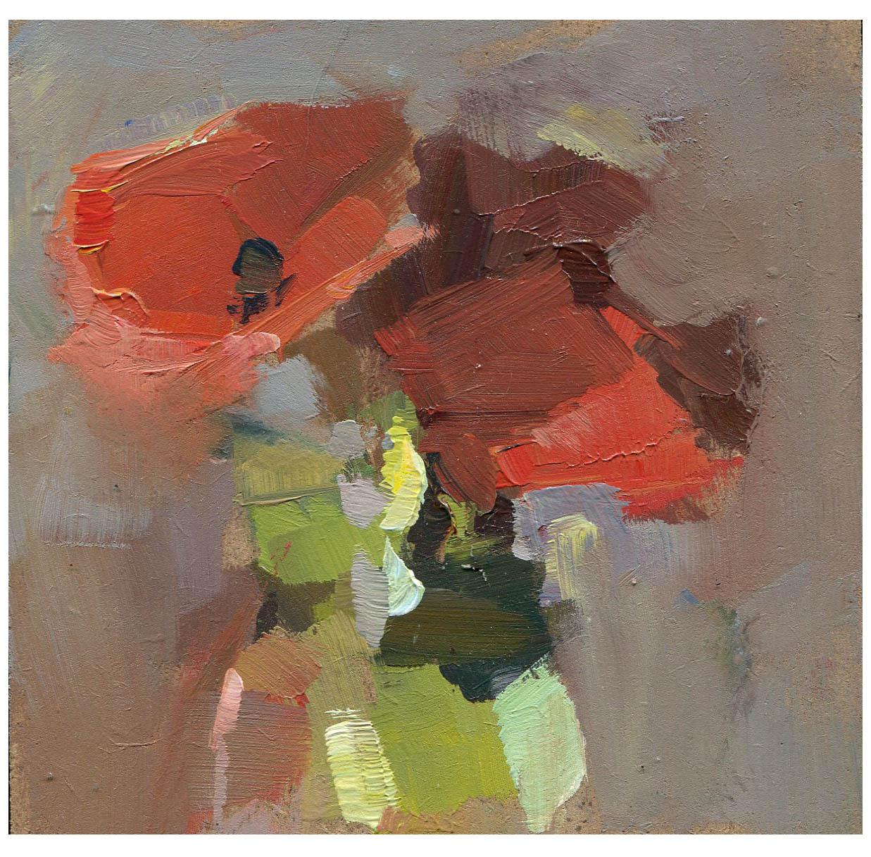 """Poppies"" original fine art by Lisa Daria"