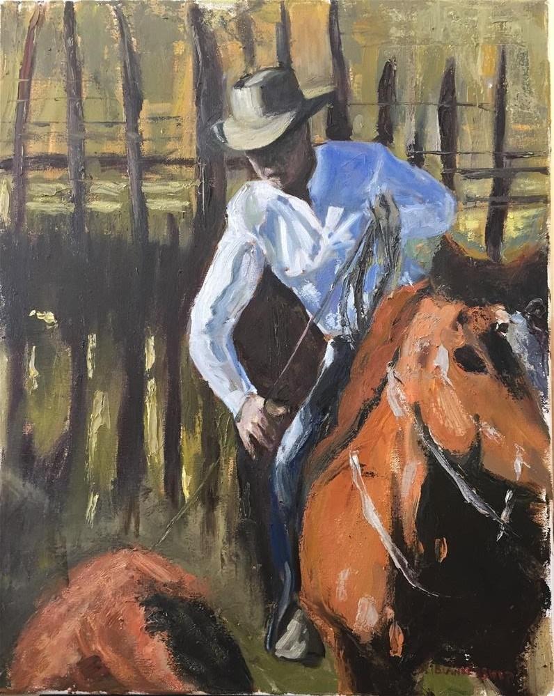 """Calf Roper"" original fine art by Rick Blankenship"