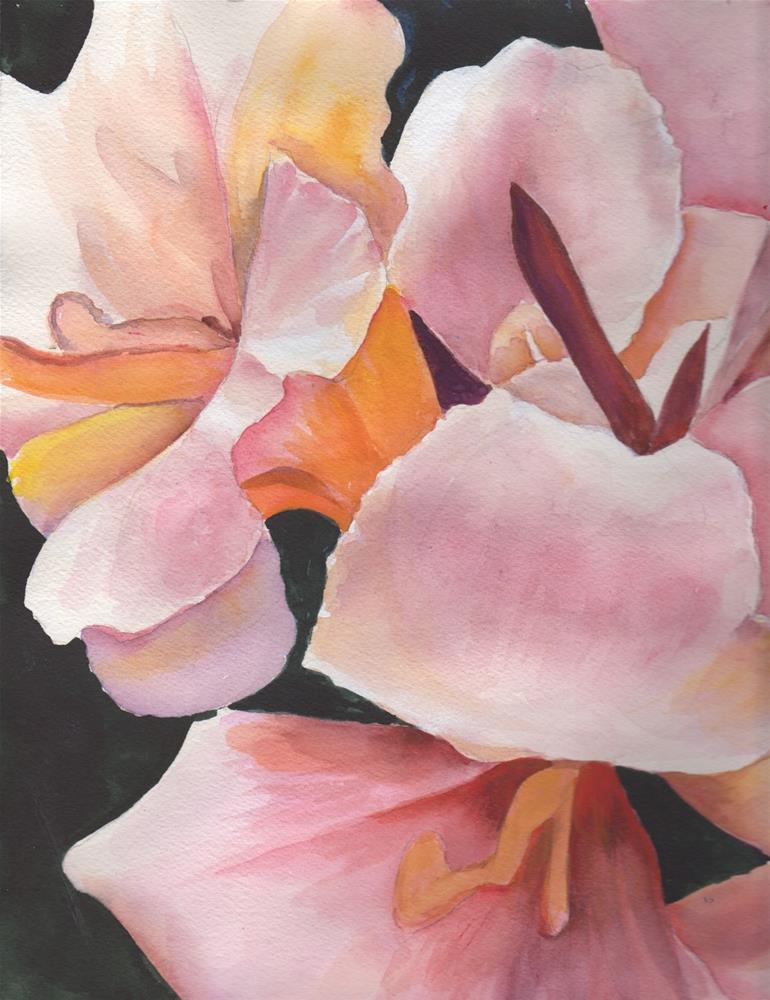 """Calla Lillies"" original fine art by Bunny Griffeth"