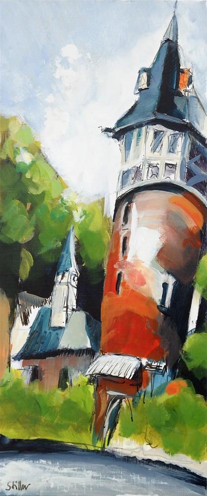 """2923 Hanover Lister Tower"" original fine art by Dietmar Stiller"
