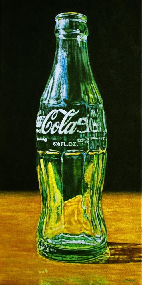 """""""Coke Bottle"""" original fine art by Margaret Horvat"""