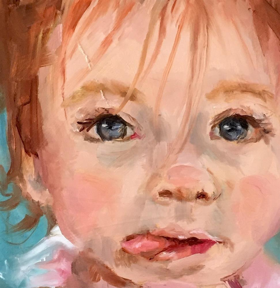 """""""Concentrating"""" original fine art by Marcia Hodges"""