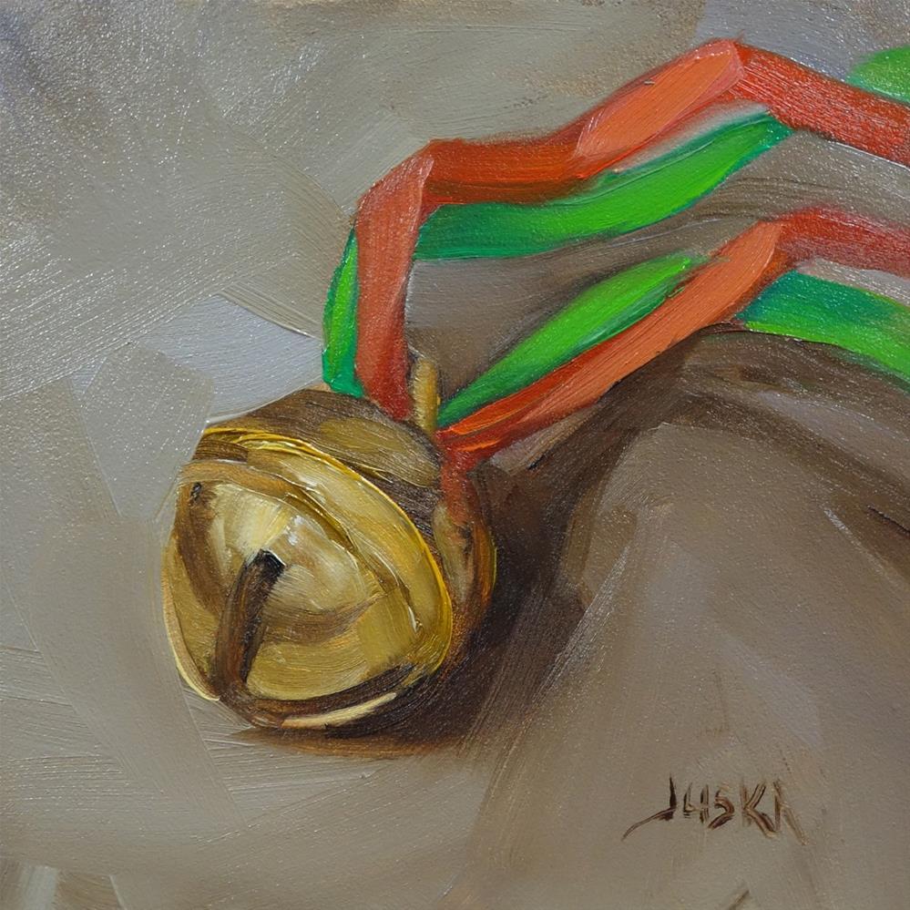 """Christmas Bell"" original fine art by Elaine Juska Joseph"