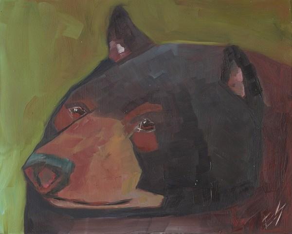 """Black Bear"" original fine art by Elizabeth See"