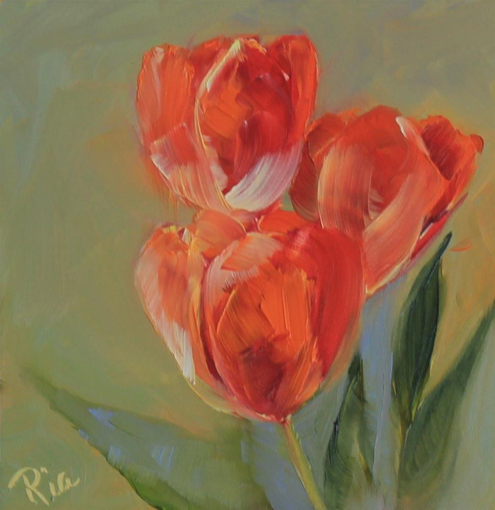 """Morning Spring"" original fine art by Maria Reed"