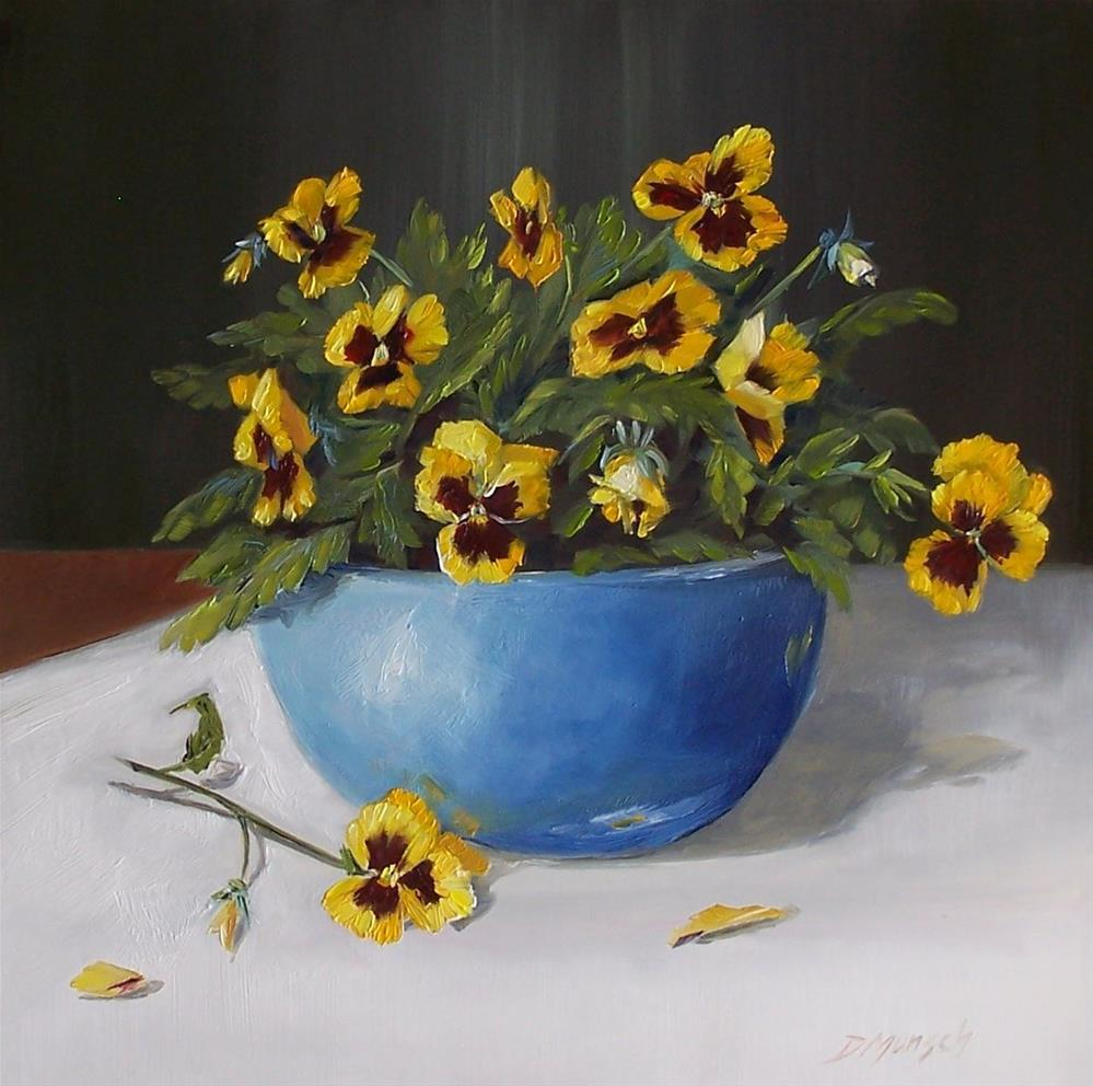 """Grandma's Pansies"" original fine art by Donna Munsch"