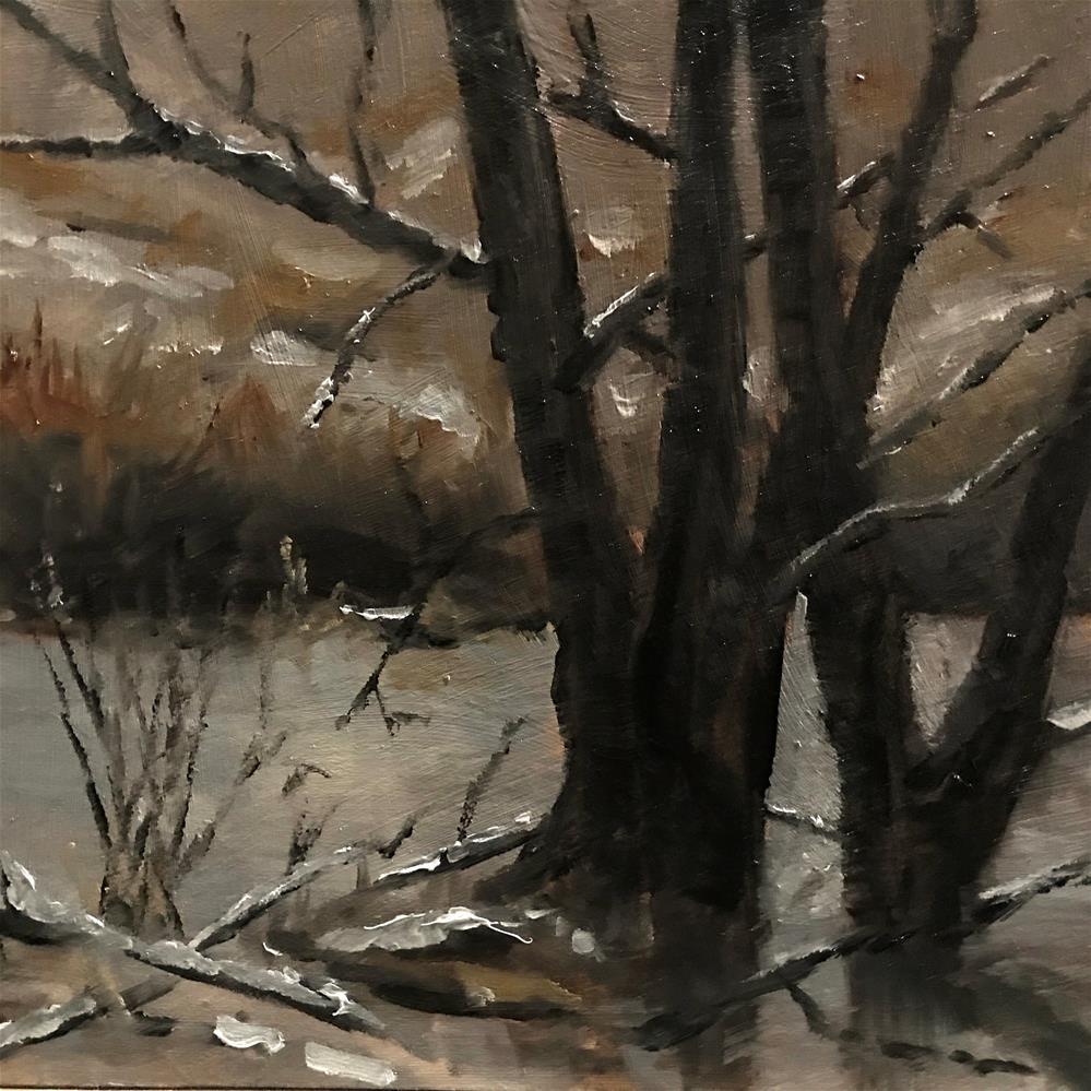 """the swamp in the winter"" original fine art by Betty Argiros"