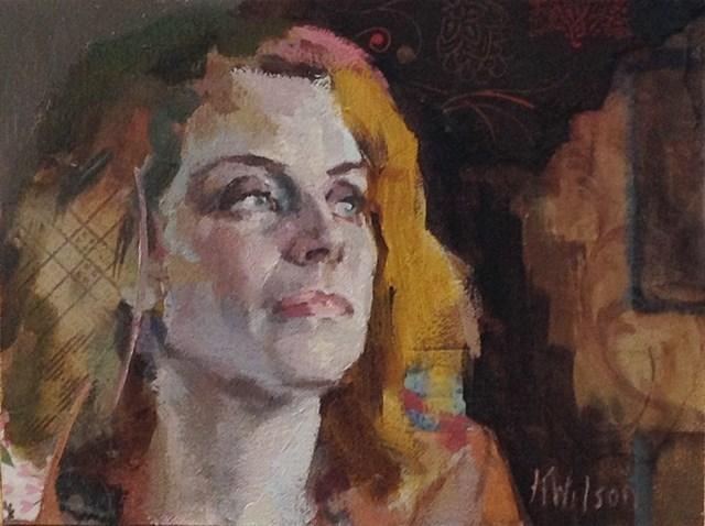 """Staring Out"" original fine art by Katie Wilson"