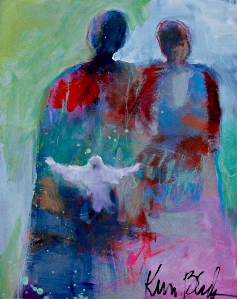 """Working on Peace Together "" original fine art by Kerri Blackman"