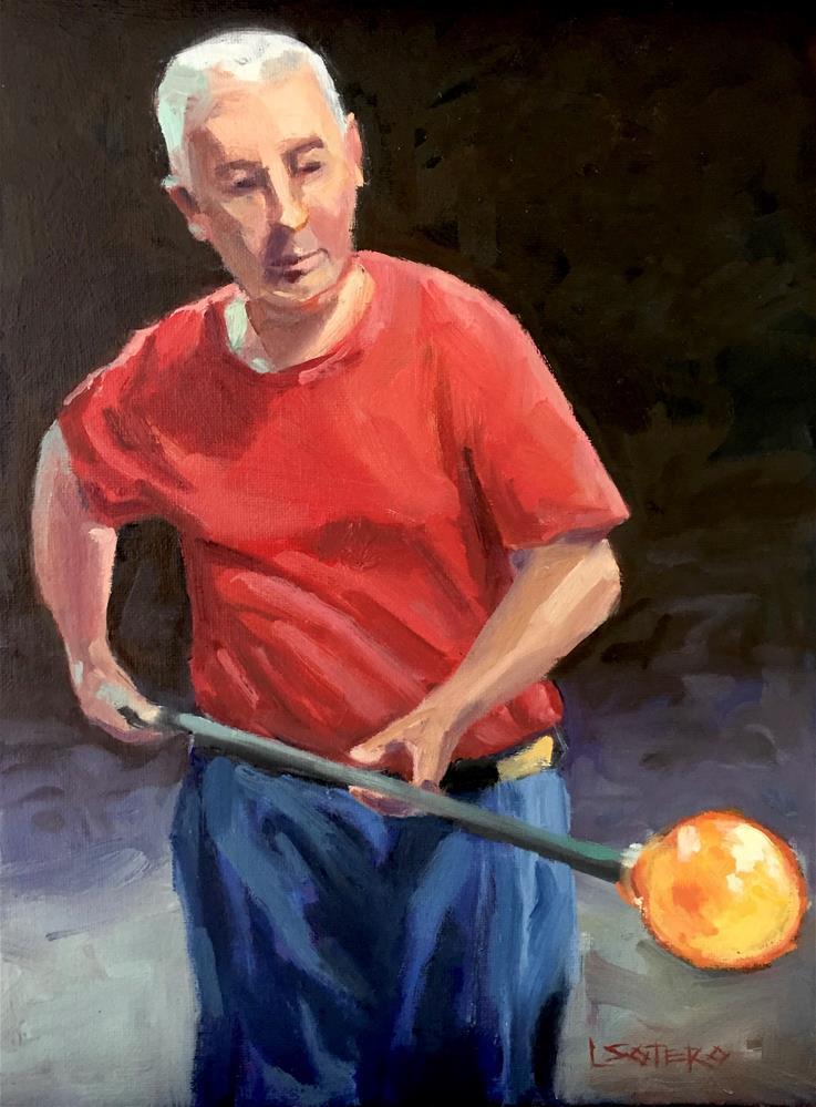 """The Glass Blower"" original fine art by Lisa Sotero"