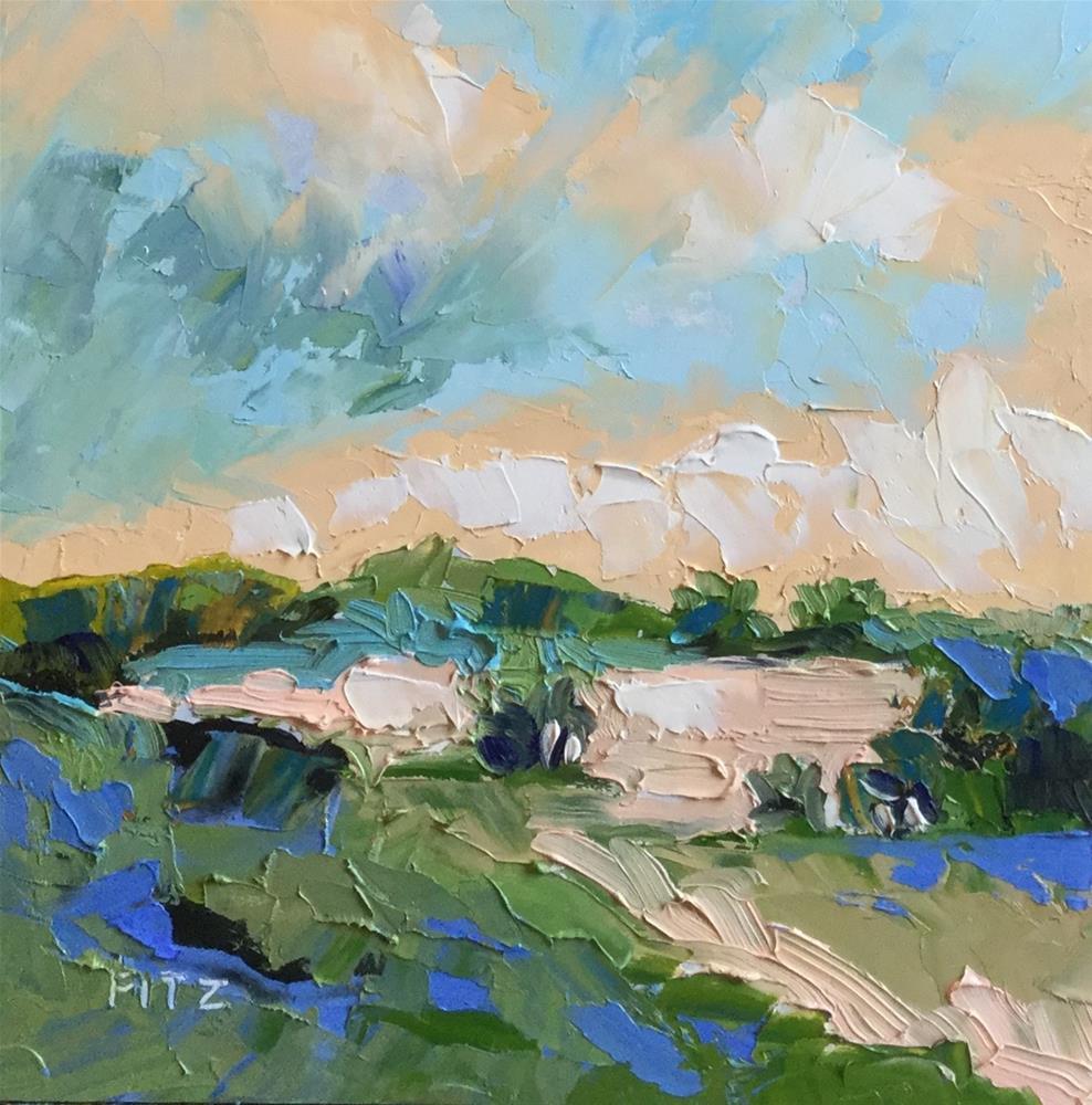 """Windswept Clouds"" original fine art by Charlotte Fitzgerald"