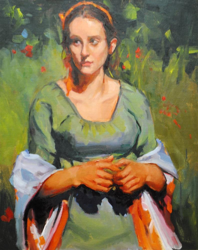 """""""In a Field of Flowers"""" original fine art by Laurie Johnson Lepkowska"""