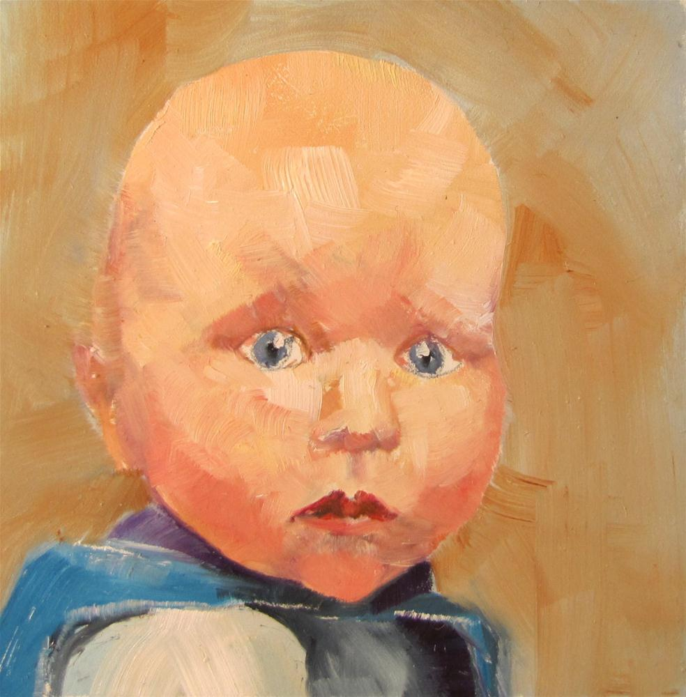 """""""Isaac 4x4 oil    sold"""" original fine art by Christine Holzschuh"""