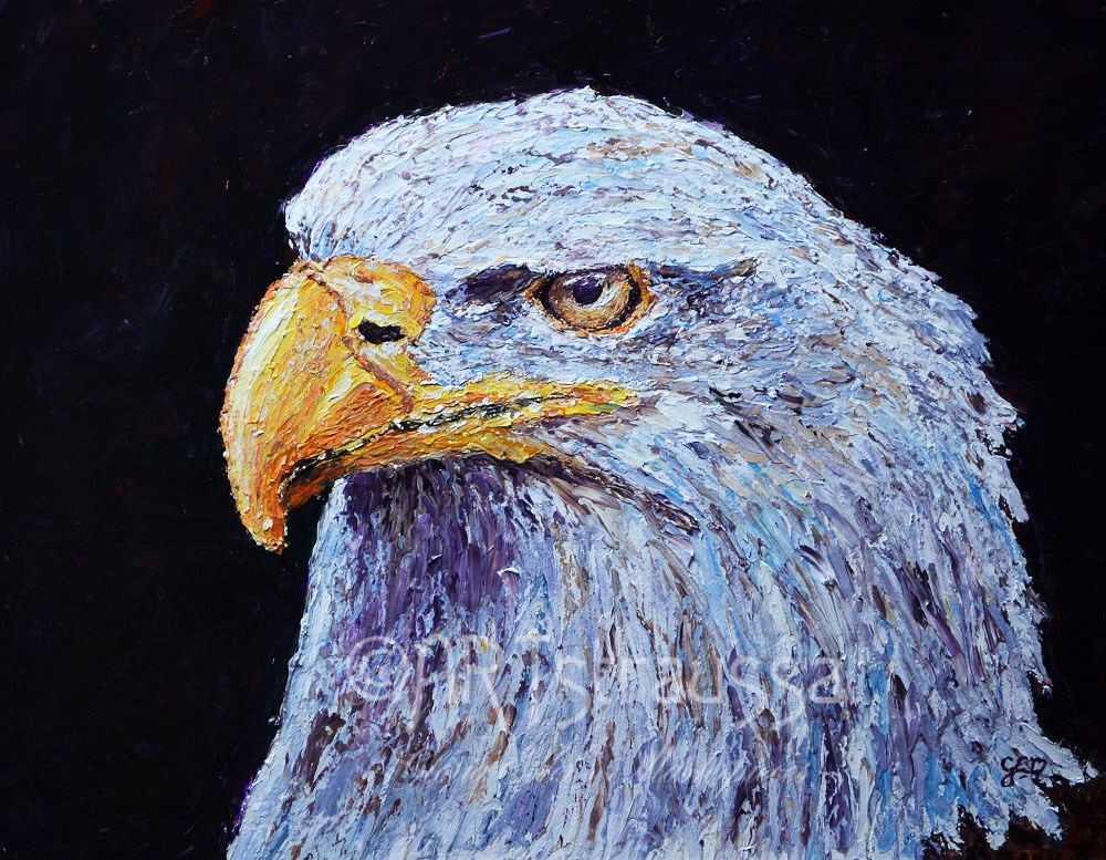 """Glaring Eye"" original fine art by Gloria Ester"