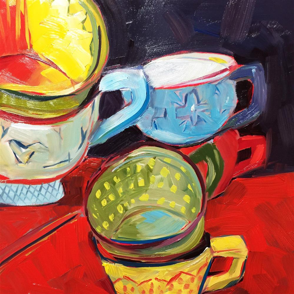 """0449: Saturday Afternoon Tea"" original fine art by Brian Miller"