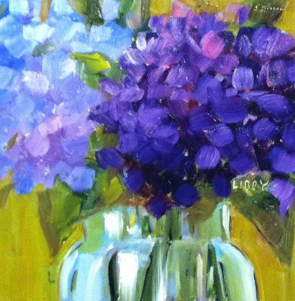 """""""Blue on Blue"""" original fine art by Libby Anderson"""