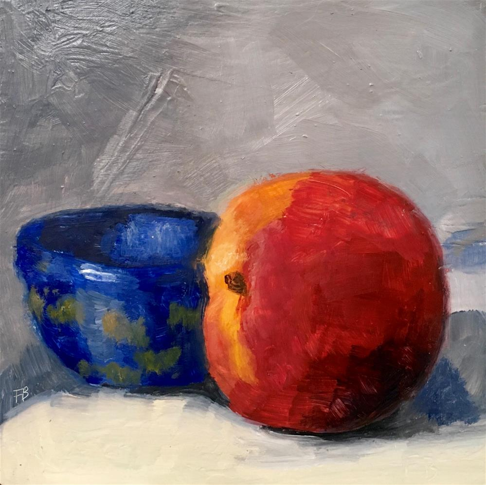 """""""036 Peach and Blue Bowel"""" original fine art by Fred Bell"""