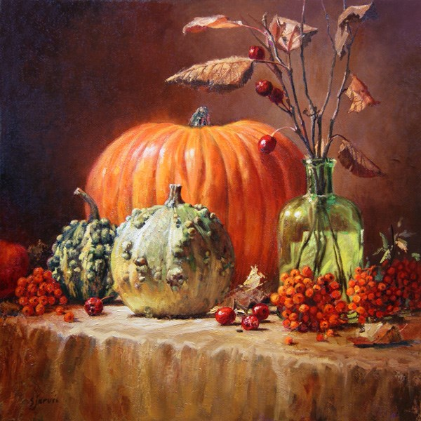 """""""October Harvest"""" original fine art by Susan N Jarvis"""