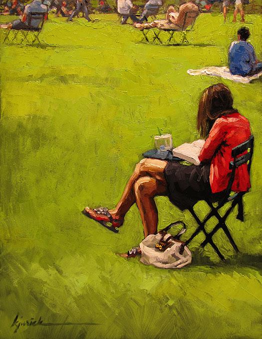 """Greenspace"" original fine art by Karin Jurick"