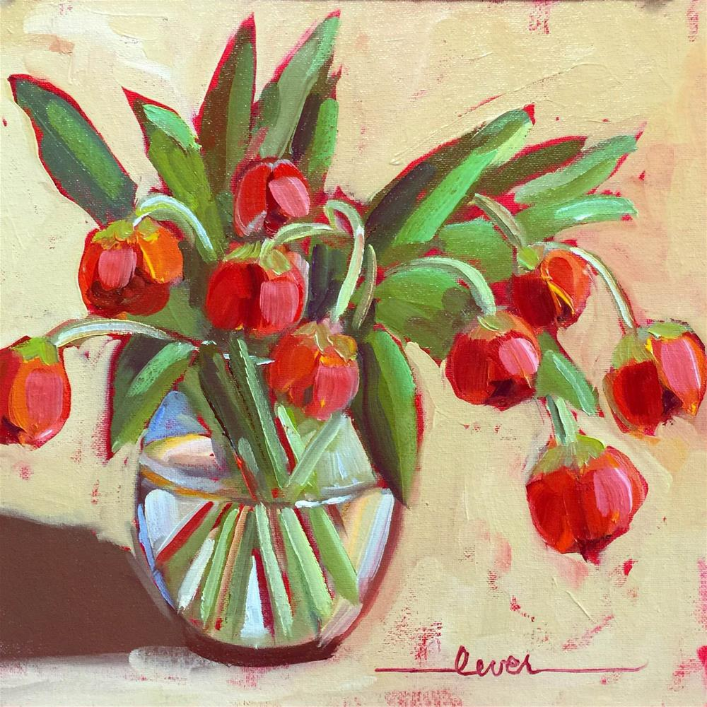 """Southbound Tulips"" original fine art by Martha Lever"