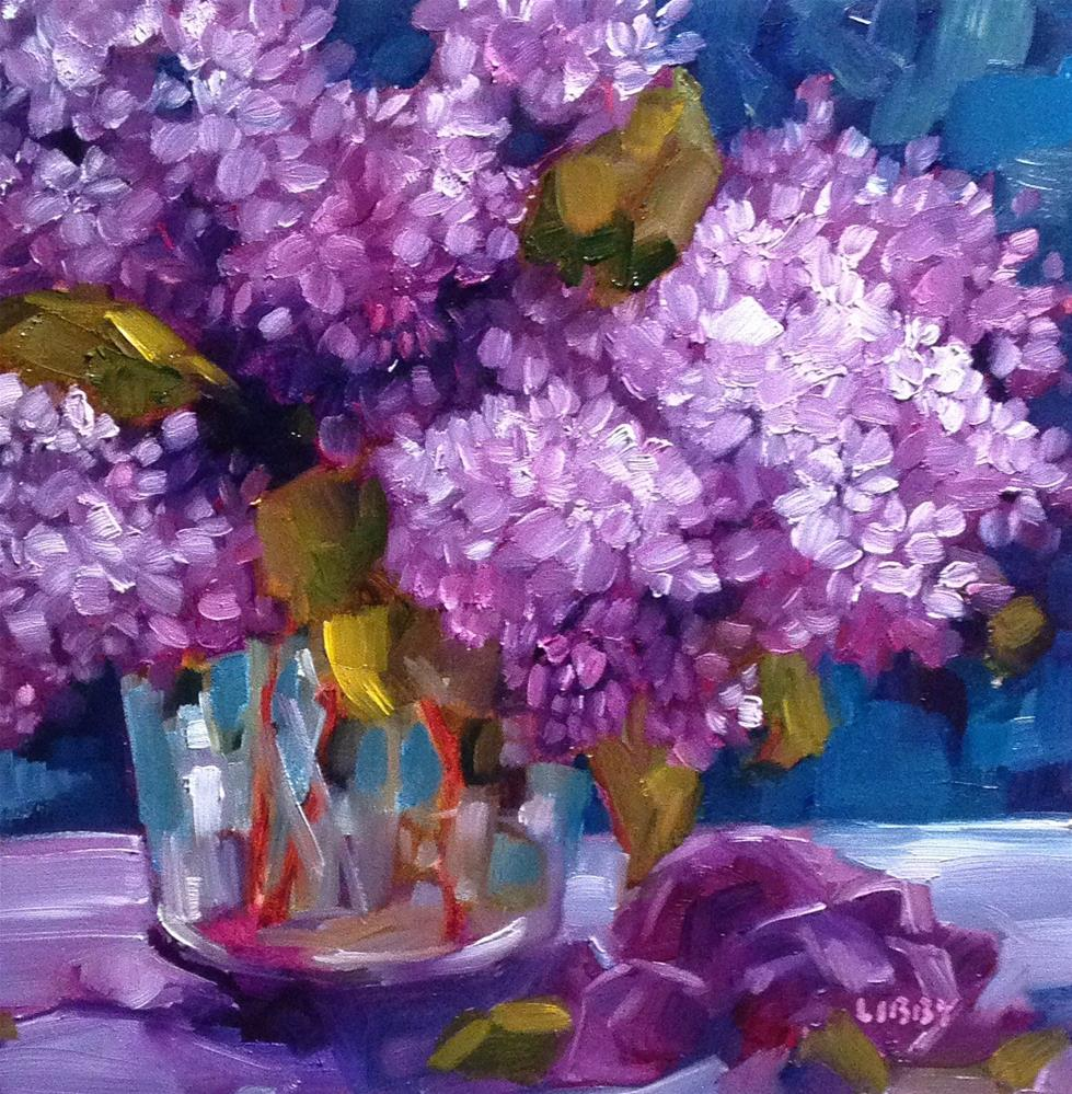 """""""Love of Lilacs"""" original fine art by Libby Anderson"""