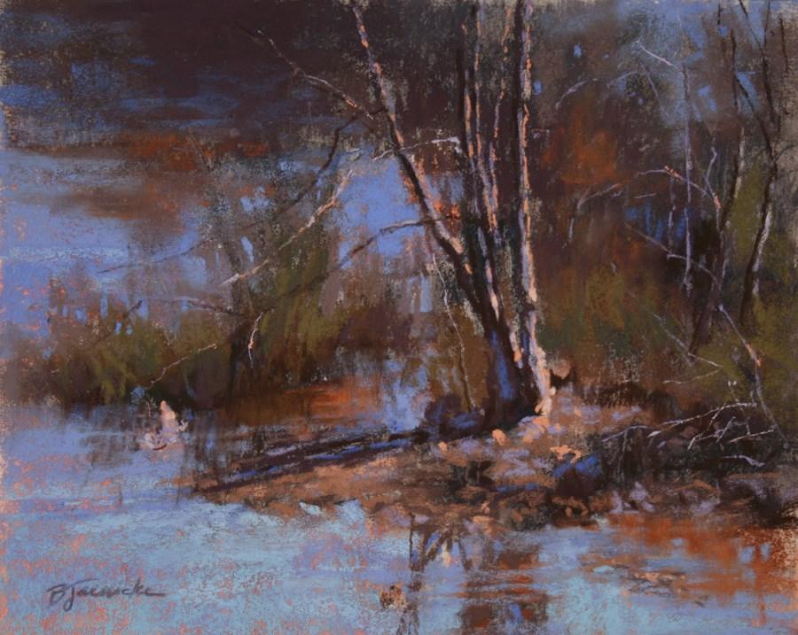 """A Quiet Little Spot"" original fine art by Barbara Jaenicke"