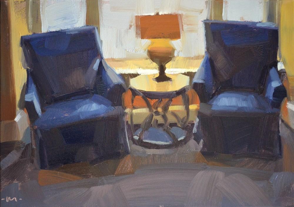 """Cozy Spot"" original fine art by Carol Marine"