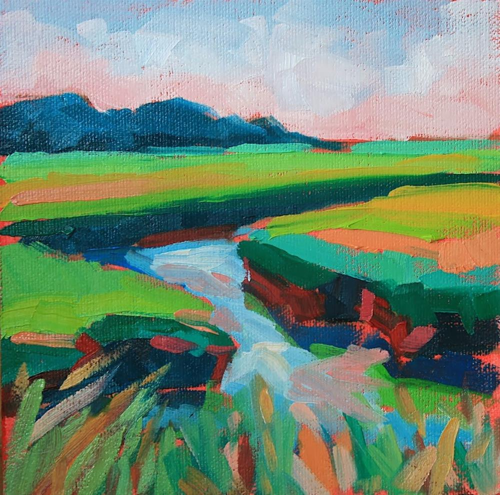 """""""Little Marsh"""" original fine art by Mary Anne Cary"""
