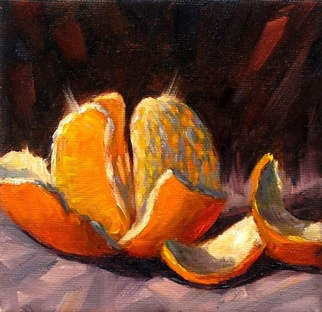 """""""Orange"""" original fine art by Irina Beskina"""