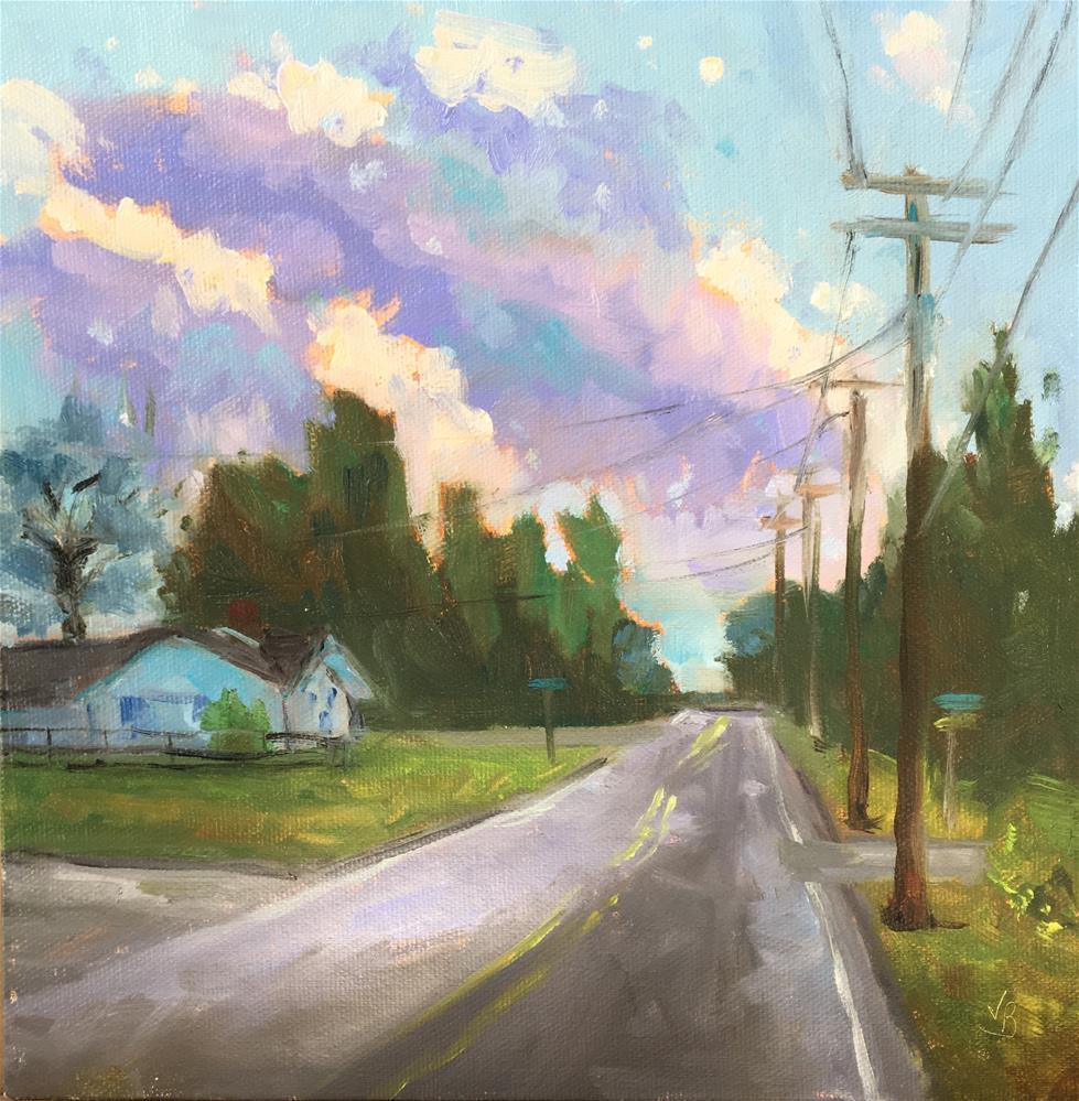 """Sunset in the Neighborhood"" original fine art by Victoria  Biedron"