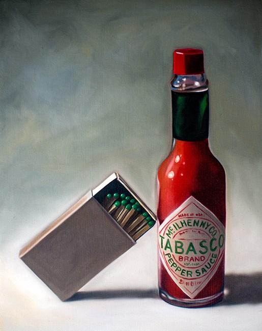 """Fire & Hot Sauce"" original fine art by Lauren Pretorius"