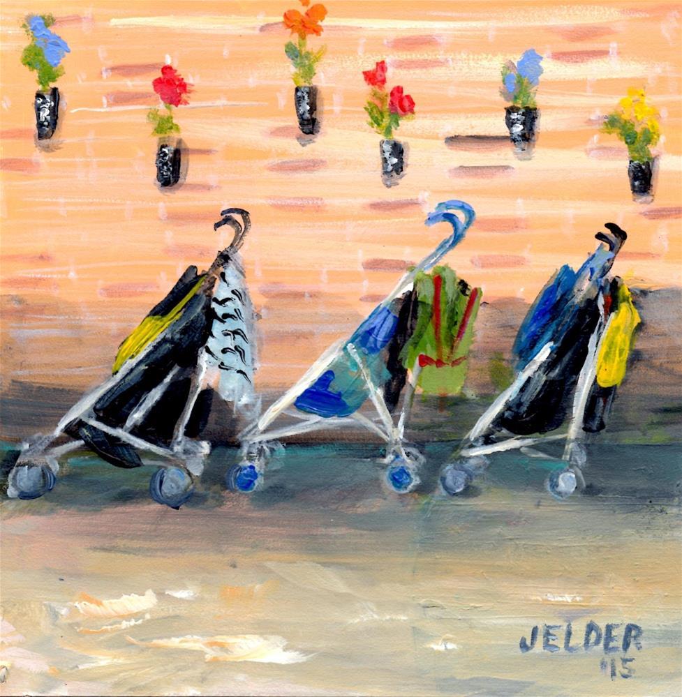 """Parking, Paris No. 68"" original fine art by Judith Elder"